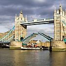 Tower bridge opens up by magiceye