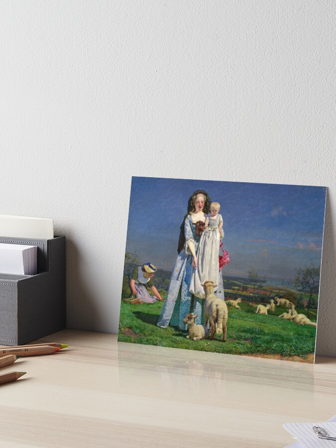 Pretty Baa Lambs Ford Madox Brown Art Board Print By Themasters Redbubble