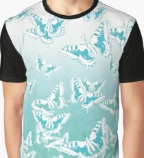 blue butterflies in the sky Graphic T-Shirt