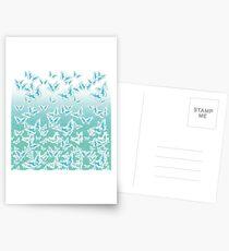 blue butterflies in the sky Postcards