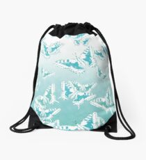 blue butterflies in the sky Drawstring Bag