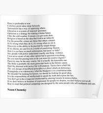 Noam Chomsky Quotes Poster
