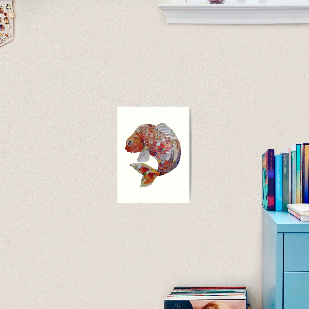Goldfish with square scales Art Print