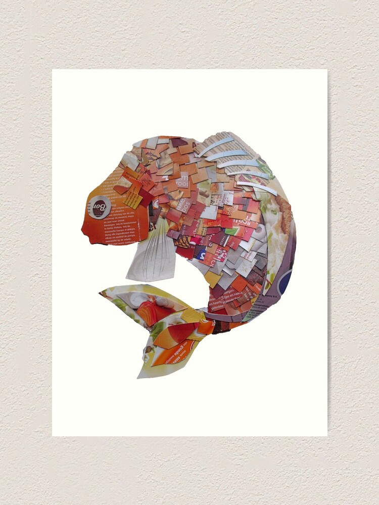 Alternate view of Goldfish with square scales Art Print