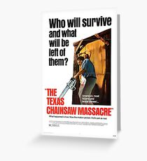 Texas chainsaw massacre greeting cards redbubble the texas chainsaw massacre greeting card m4hsunfo