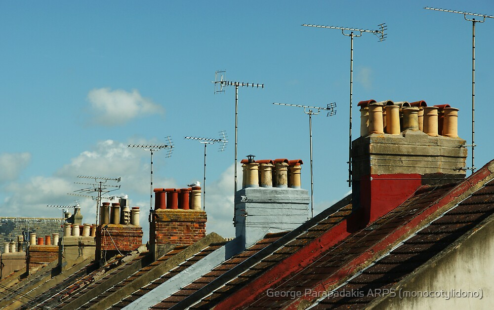 Rooftops of Worthing by George Parapadakis (monocotylidono)