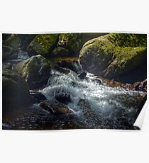 Brook - the river Lyn in Lynmouth, Devon Poster