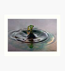 Droplet 7 Art Print