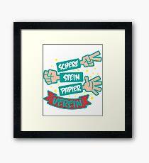 Scissors stone paper club Framed Print