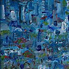 Auckland City Abstract painting by Vic Potter by Vic Potter