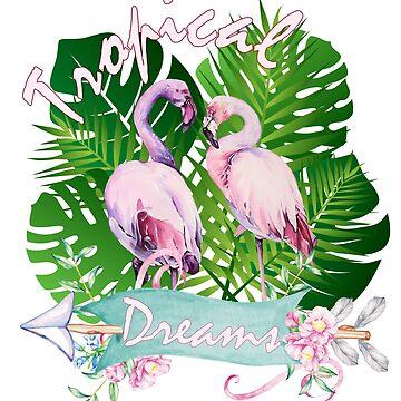 Tropical Dreams flamingo paradise  by MNA-Art