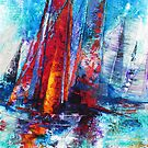 Racing on the Bay by De Gillett