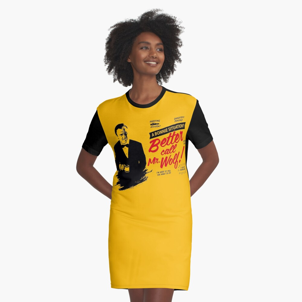 Better Call Mr. Wolf Graphic T-Shirt Dress
