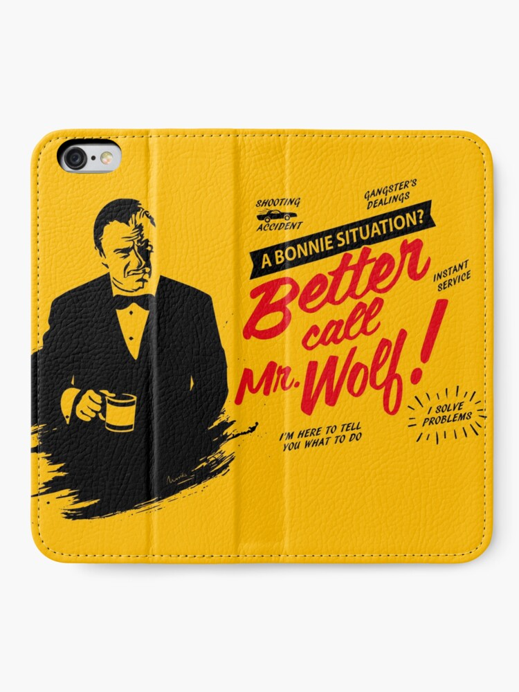 Alternate view of Better Call Mr. Wolf iPhone Wallet