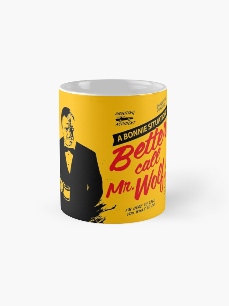 Alternate view of Better Call Mr. Wolf Mugs