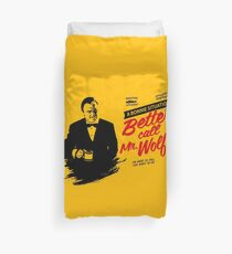 Better Call Mr. Wolf Duvet Cover