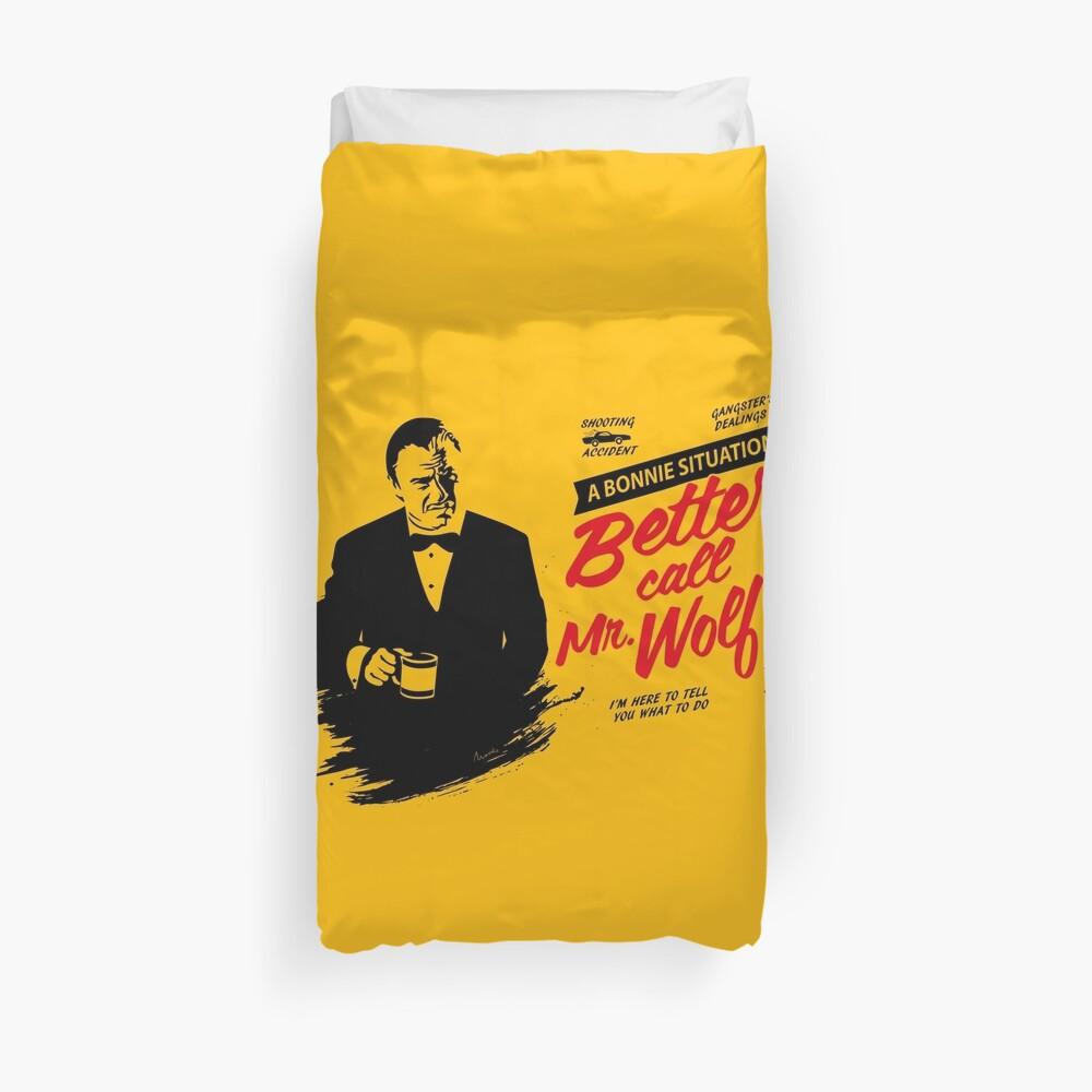 Better Call Mr. Wolf Duvet Cover