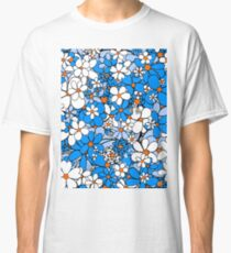 Floral -- Blue and White Classic T-Shirt