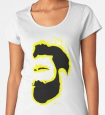 Man vector yellow and black silhouette Women's Premium T-Shirt