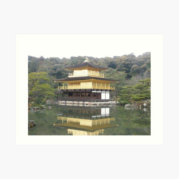 Kinkaku-ji golden temple Kyoto, Japan Art Print