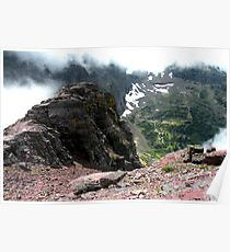 Glacier National Park, Montana, USA  - View West from Mount Oberlin Poster