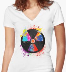Color Radiation Women's Fitted V-Neck T-Shirt