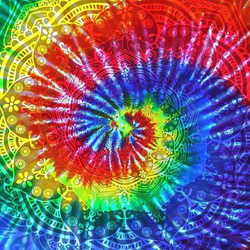 Tie-Dye Boho Mandala by ImageMonkey