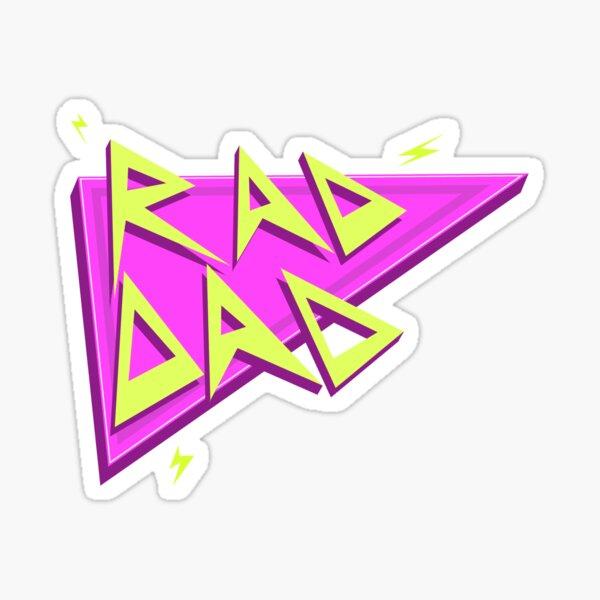 Rad Dad- Pink Sticker