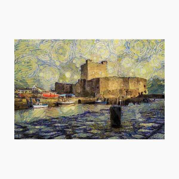 Starry Carrickfergus Castle Photographic Print