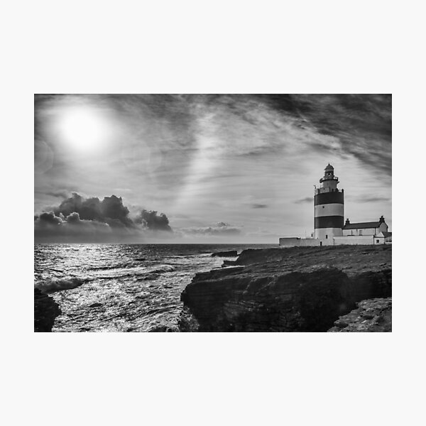 Storm approaching Hook Head Photographic Print