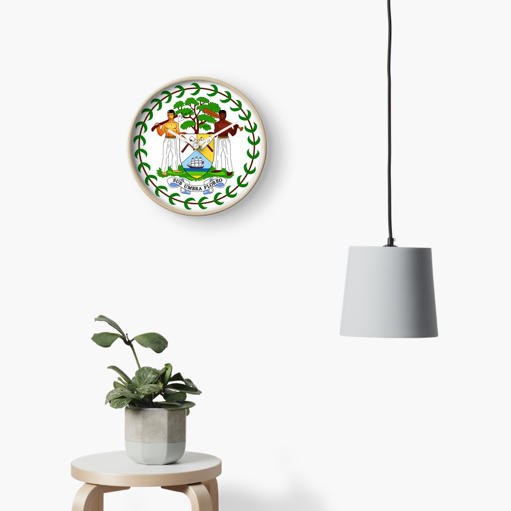 Coat of arms of Belize Clock