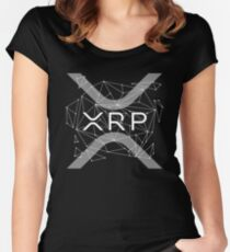 Ripple XRP Logo New Ripple Logo Cryptocurrency Women's Fitted Scoop T-Shirt