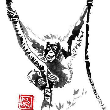 orangutan in his tree 06 by pechane