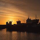Shipyard Sunset by Gben