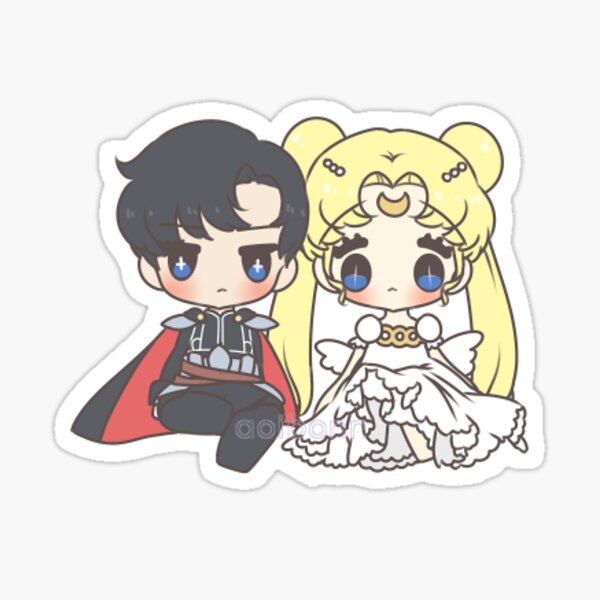 endymion and princess serenity Sticker