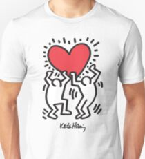 Keith Haring, Heart, Dancing Unisex T-Shirt