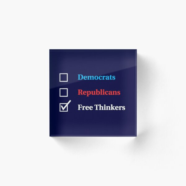Election Ballot - Free Thinkers for Dark T's Acrylic Block