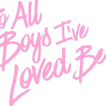 To all the boys I've loved before pink and blue by frnknsteinn