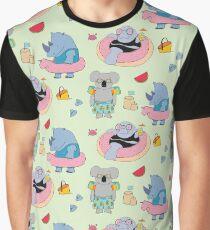 Beach animals - green Graphic T-Shirt