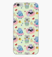 Beach animals - green iPhone Case