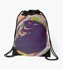 Sleepy cat Drawstring Bag
