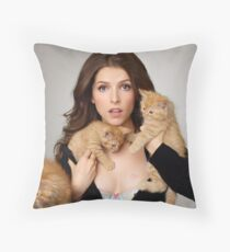 Anna Kendrick Throw Pillow