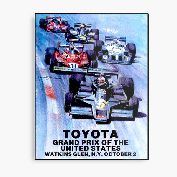 WATKINS GLEN : Vintage Toyota Auto Racing Grand Prix Print Metal Print