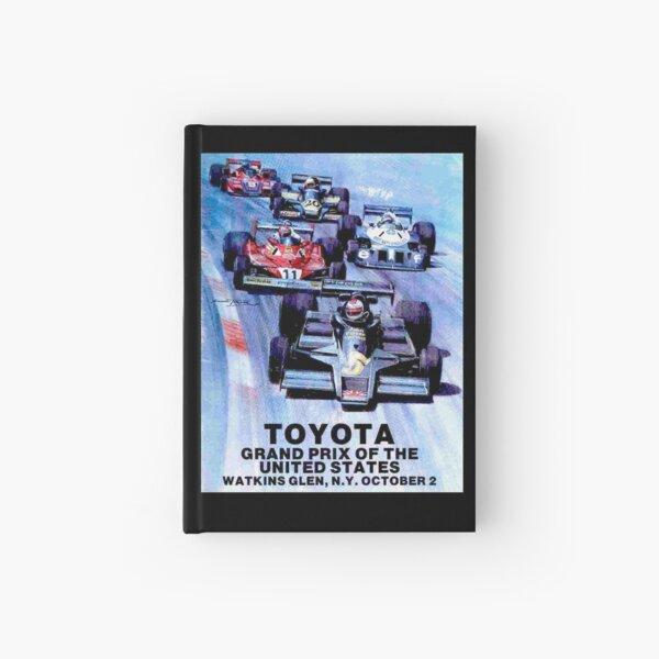 WATKINS GLEN : Vintage Toyota Auto Racing Grand Prix Print Hardcover Journal