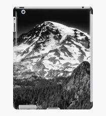 Mount Rainier in Black & White iPad Case/Skin