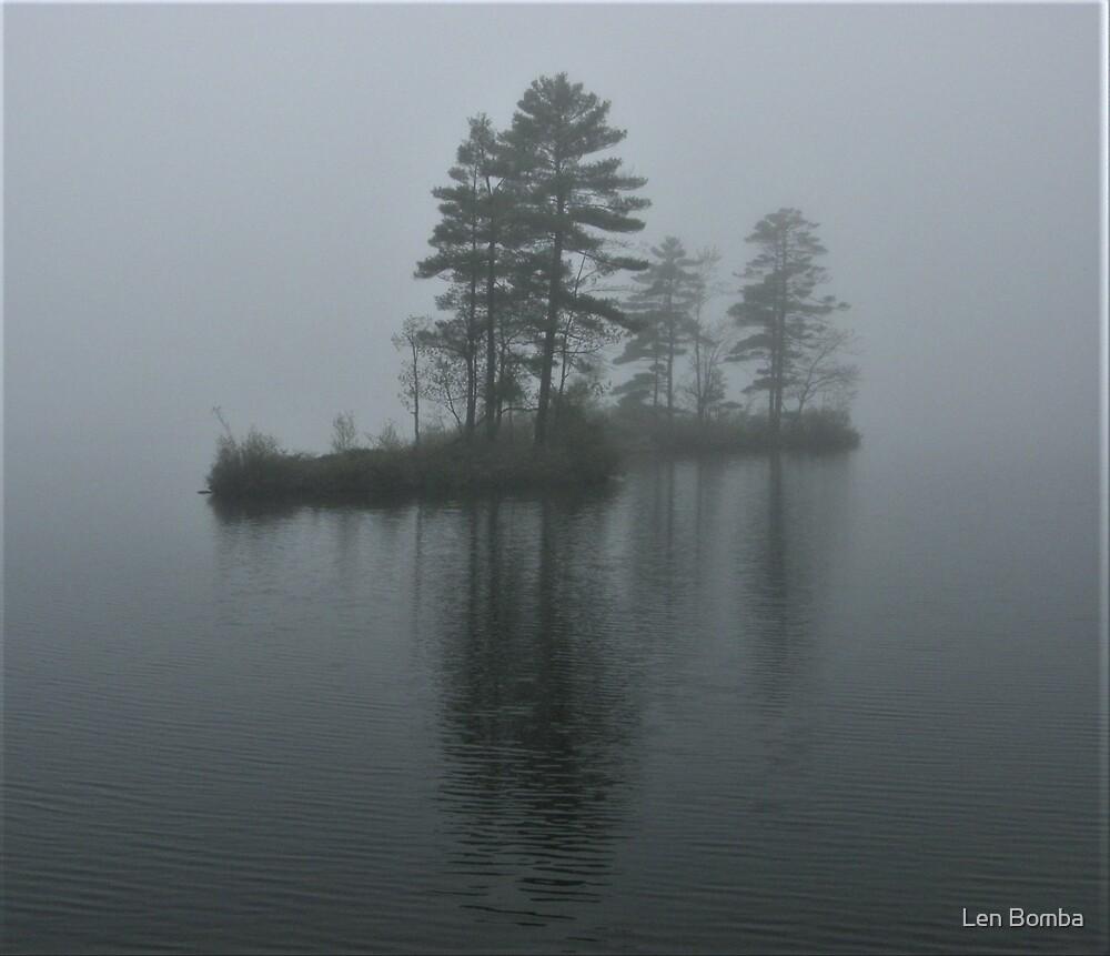 Island In The Fog by Len Bomba