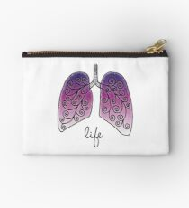 Life in lungs Studio Pouch