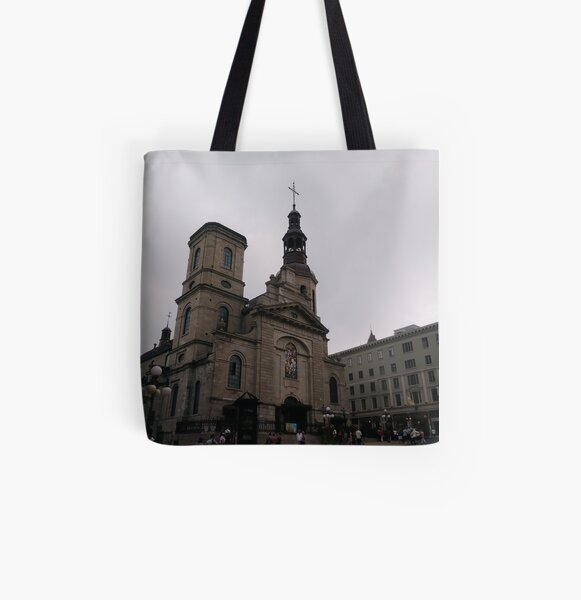 Quebec City, #QuebecCity, #Quebec, #City, #Canada, #buildings, #streets, #places, #views, #nature, #people, #tourists All Over Print Tote Bag