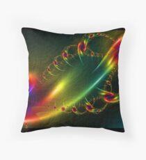 Newtons Rainbow Throw Pillow