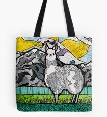 Llama and Andes Tote Bag
